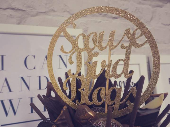 Swish My Swag scouse bird blogs chocolate cake gold topper
