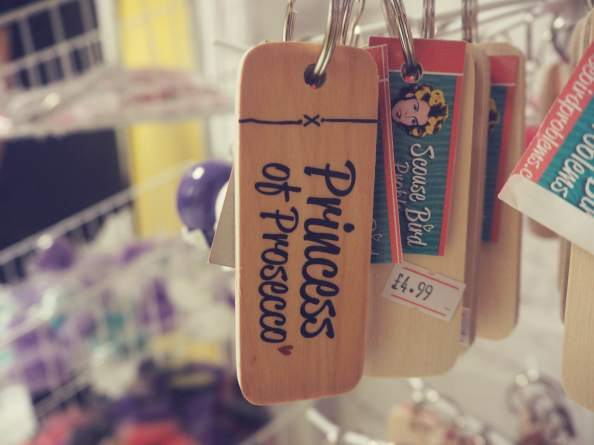 Swish My Swag scouse bird shop princess of prosecco keyring