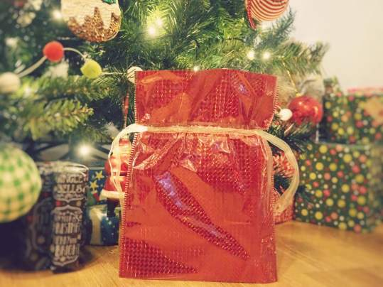 Swish My Swag QVC christmas drawstring gift bags