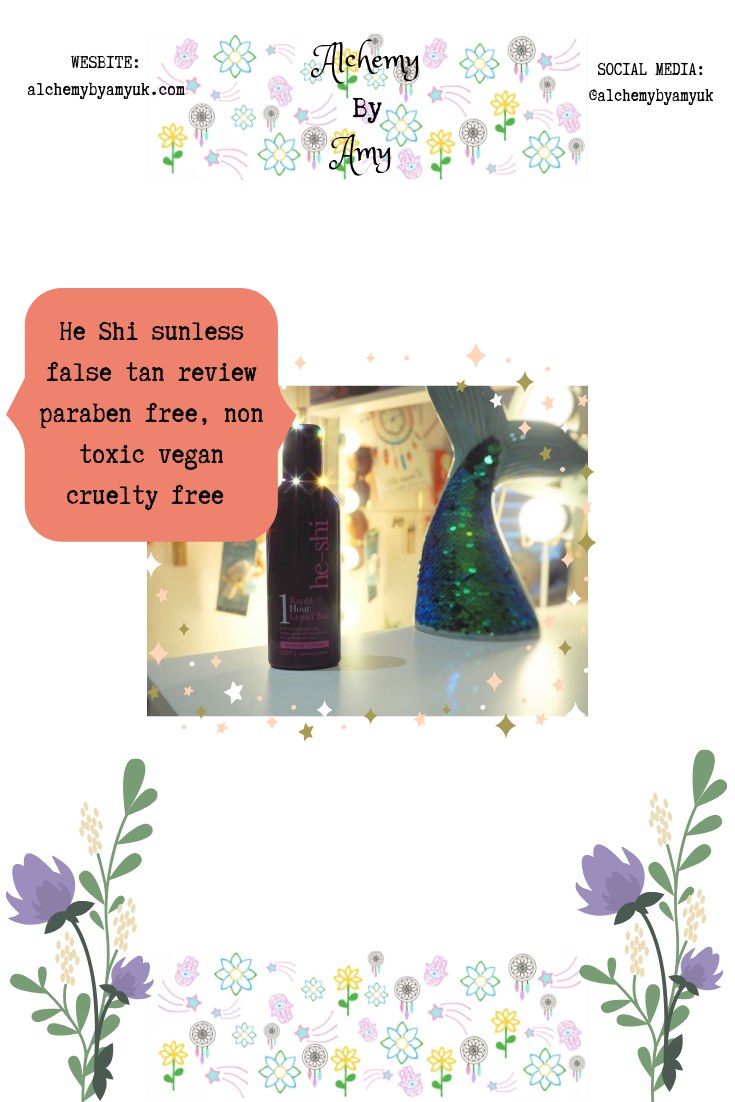 alchemy by amy uk non toxic natural dha paraben free sunless false tan vegan cruelty free review