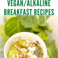 A Week of Vegan/Alkaline Breakfast Recipes