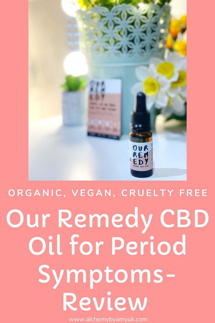 alchemy by amy uk organic vegan cruelty free vegan Our Remedy CBD oil for period pain anxiety menstrual care mental wellness